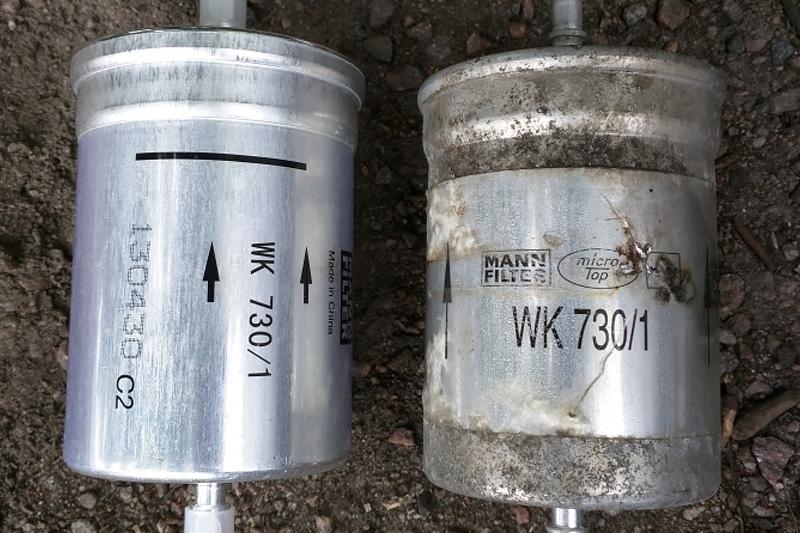 Alter und neuer Benzinfilter
