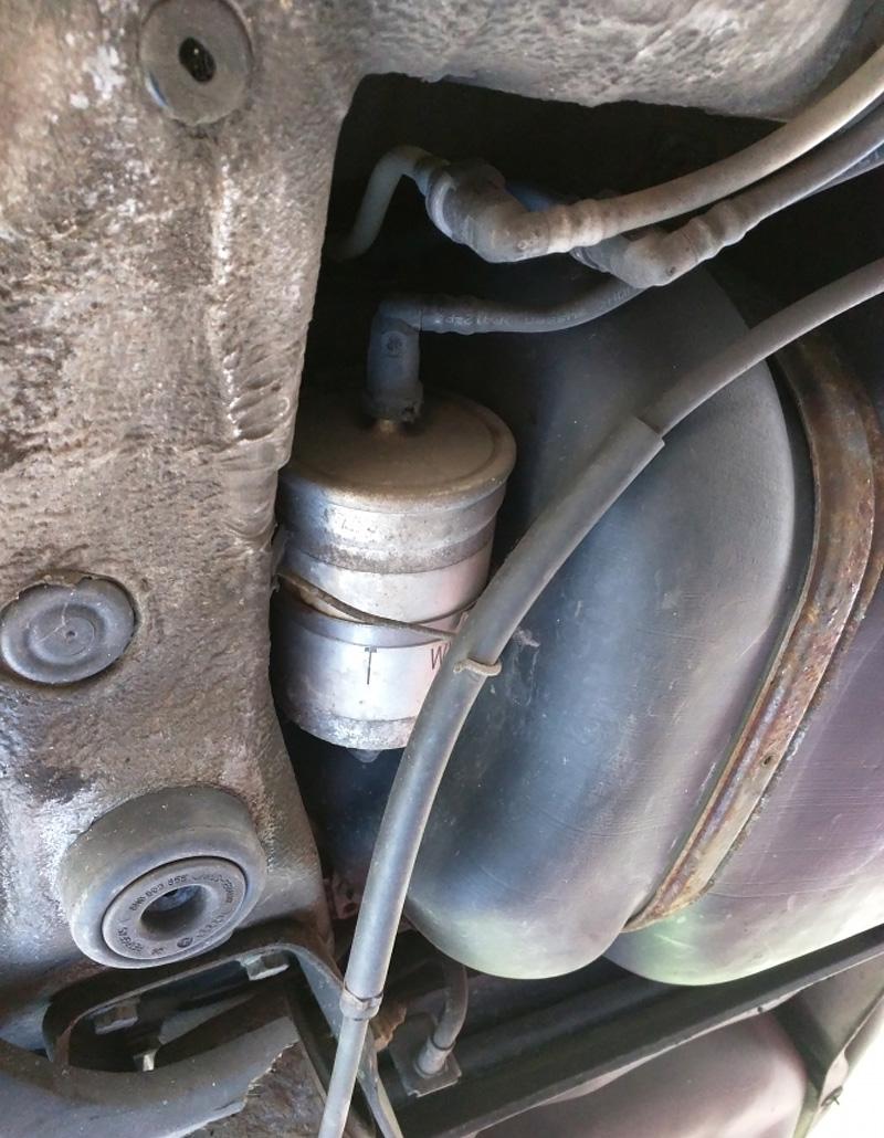 Einbauort Benzinfilter