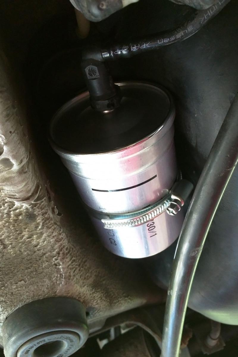 Neuer Benzinfilter
